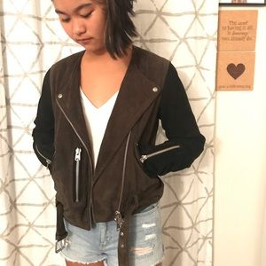 Allsaints Cropped motorcycle jacket